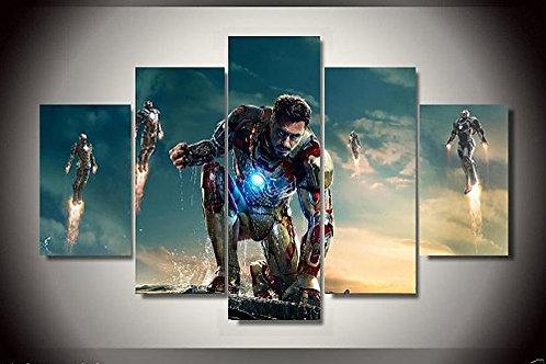 Iron Man - 5 Piece Canvas Set