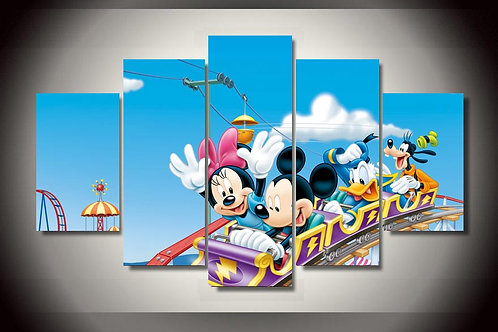 Mickey Mouse Disney - 5 Piece Canvas Set