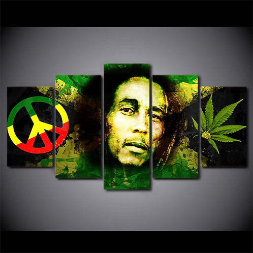 Bob Marley - 5 Piece Canvas Set