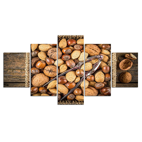 Print Home Décor nuts breakfast print canvas 5 pieces