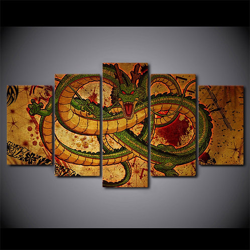 Goku And Shen Long Tam Dragon Ball Z - 5 Piece Canvas Set