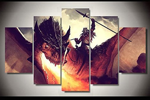 Dragon - 5 Piece Canvas Set