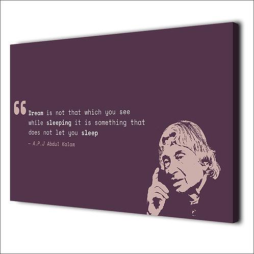 Abdul Kalam motivation quote -1 piece canvas