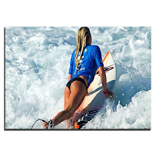 Surfing Girl- 1 piece canvas