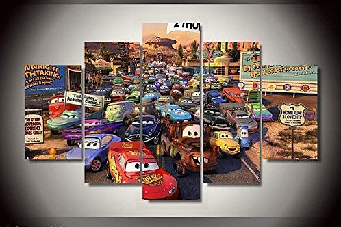 Cars Disney - 5 Piece Canvas Set