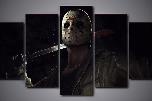 Friday the 13th - 5 Piece Canvas Set