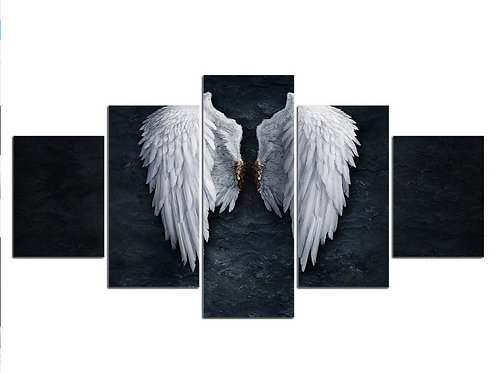 Angel white wings  - 5 Piece Canvas
