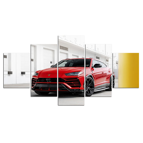 Lamborghini Urus 5 piece print framed canvas wall art