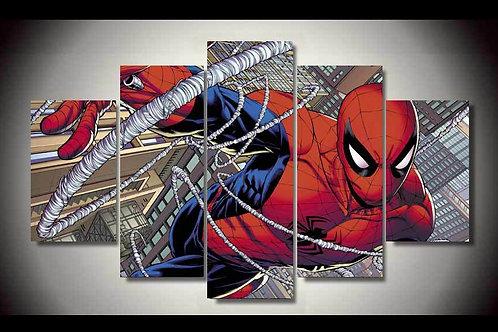 Spiderman - 5 Piece Canvas Set