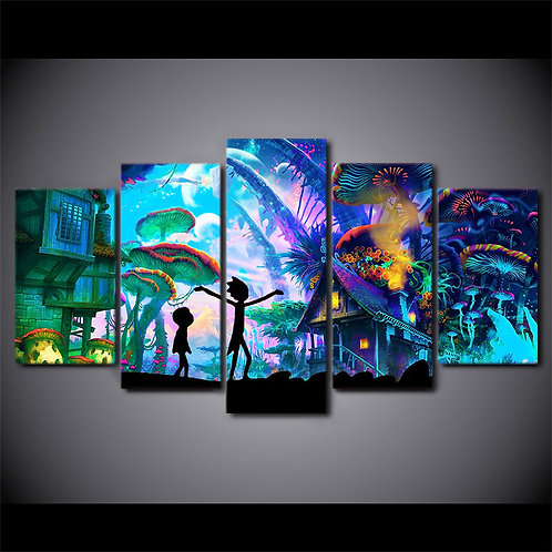 Rick and Morty - 5 Piece Canvas Set