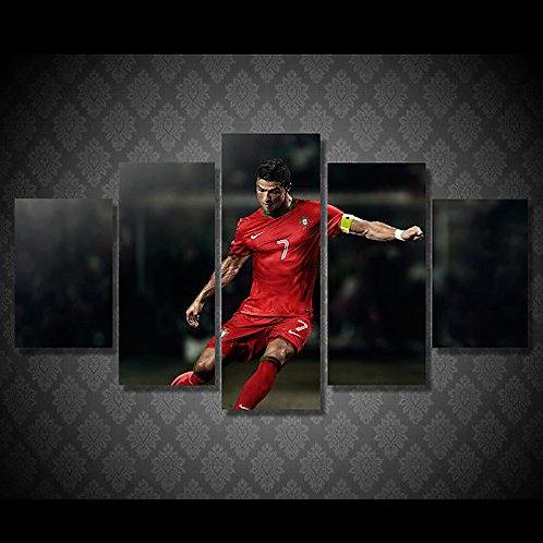 Cristiano Ronaldo - 5 Piece Canvas Set