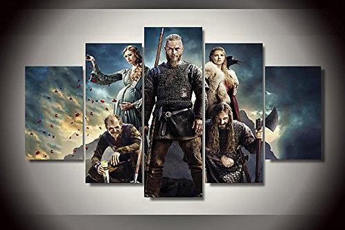 Vikings - Ragnar Lothbrok  - 5 Piece Canvas Set