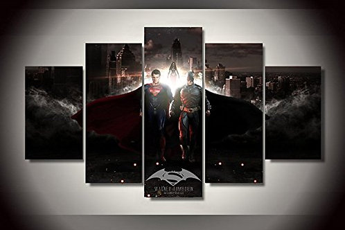 Batman vs Superman - 5 Piece Canvas Set