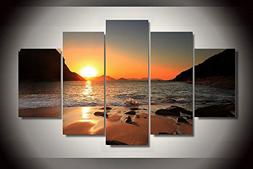 Beach Sunset - 5 Piece Canvas Set