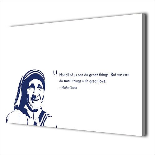 Mother Teresa motivation quote -1 piece canvas