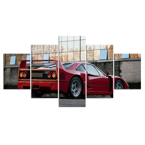 Print Home Décor Ferrari F40 super car print canvas 5 pieces