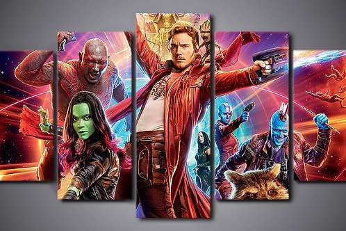 Guardians of the Galaxy - 5 Piece Canvas Set