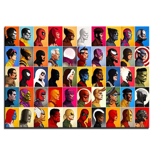 All heroes - 1 piece canvas