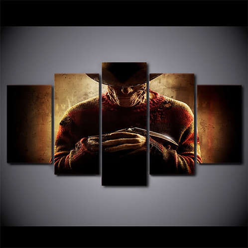 Freddy Krueger - 5 Piece Canvas Set
