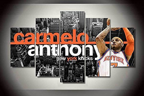 Carmelo Anthony - New York Knicks NBA - 5 Piece Canvas Set