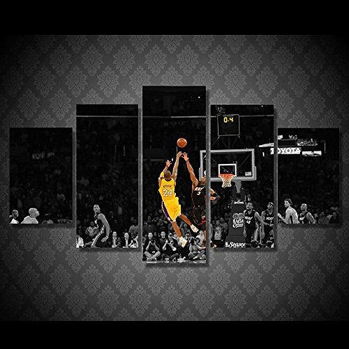 Lakers - NBA  - 5 Piece Canvas Set