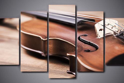 Violin Music - 5 Piece Canvas Set