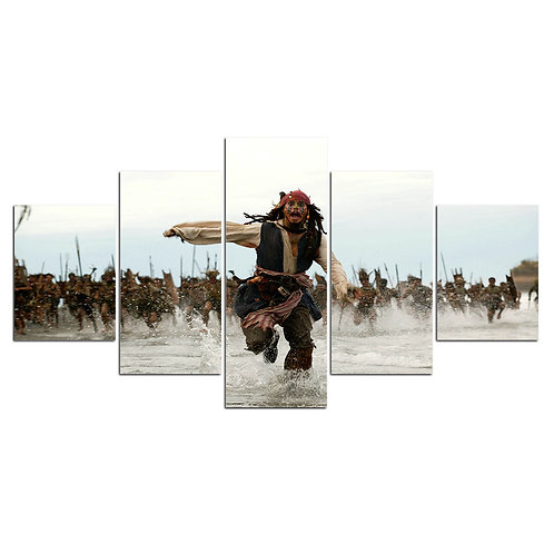 Pirates of the Caribbean Johnny Depp - 5 Piece Canvas