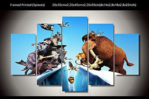 Ice Age - 5 Piece Canvas Set