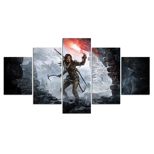 Tomb raider Lara Croft- 5 Piece Canvas