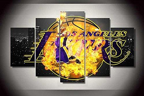 Los Angeles Lakers - NBA - 5 Piece Canvas Set