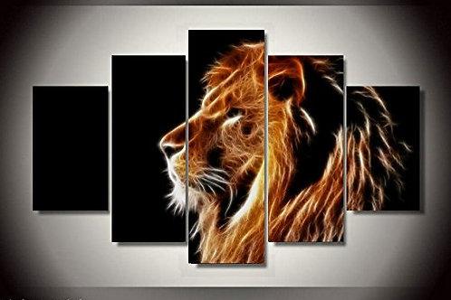 Lion Art - 5 Piece Canvas Set