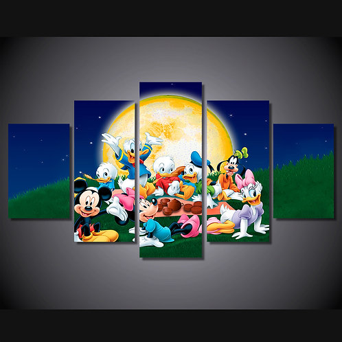 Mickey Mouse and Friends Disney - 5 Piece Canvas Set