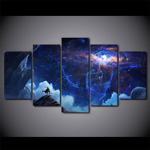 Space Planet - 5 Piece Canvas Set