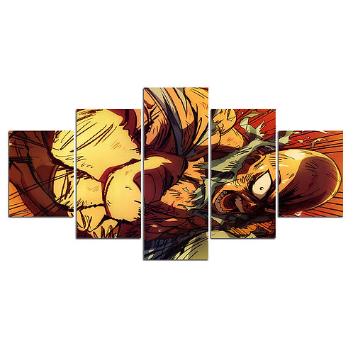 One punch man anime - 5 Piece Canvas