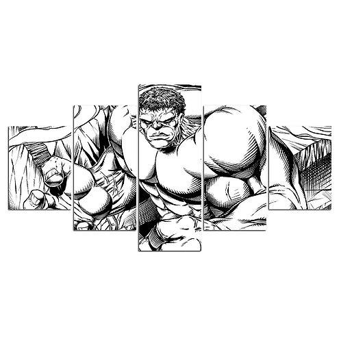 Hulk hero comics- 5 Piece Canvas