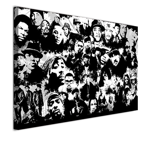 All Best Rappers - 1 piece canvas