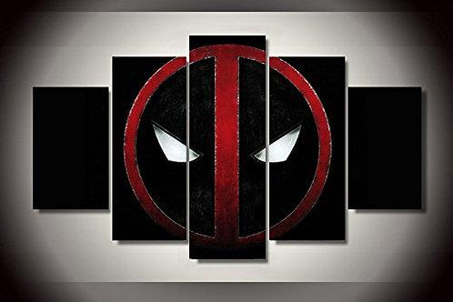 Deadpool Symbol - 5 Piece Canvas Set