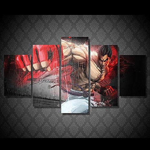 Street Fighter Ryu - 5 Piece Canvas Set