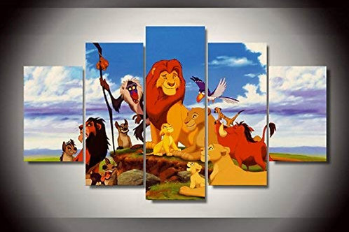 Lion King - 5 Piece Canvas Set