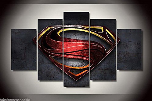 Superman - 5 Piece Canvas Set