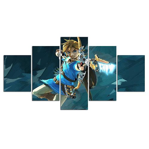 Legend of Zelda print canvas 5 pieces
