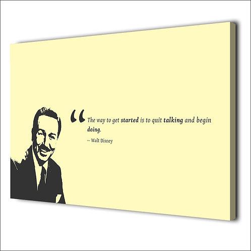 Walt Disney Motivation quote -1 piece canvas