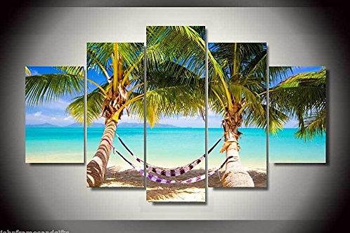 Palm Trees - 5 Piece Canvas Set