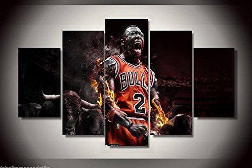 Chicago Bulls - NBA  - 5 Piece Canvas Set
