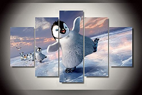 Happy Feet - 5 Piece Canvas Set
