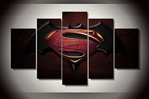 Batman vs Superman - 5 Piece Canvas Set