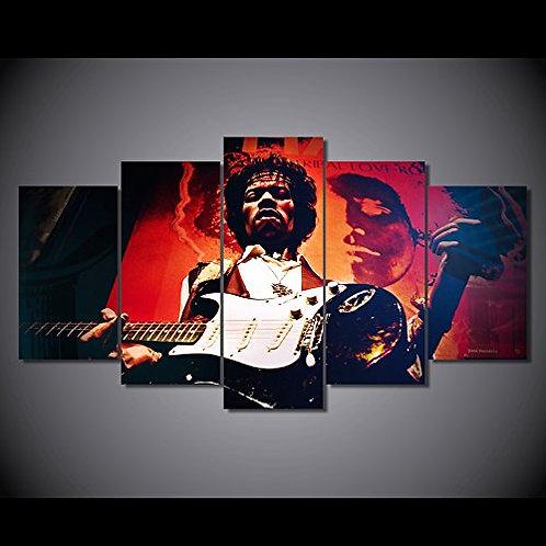 Jimi Hendrix - 5 Piece Canvas Set