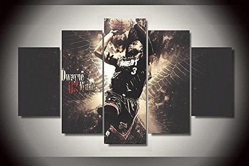 Dwyane Wade - HEAT NBA - 5 Piece Canvas Set
