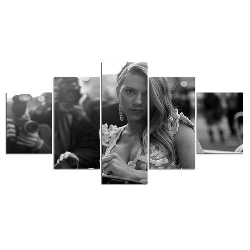 Scarlett Johansson 5 Piece Canvas