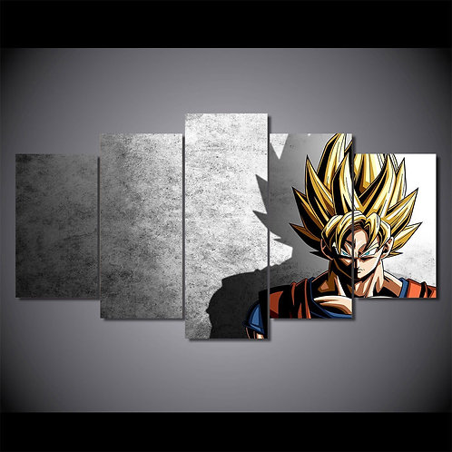 Dragon Ball - Vegeta Goku - 5 Piece Canvas Set